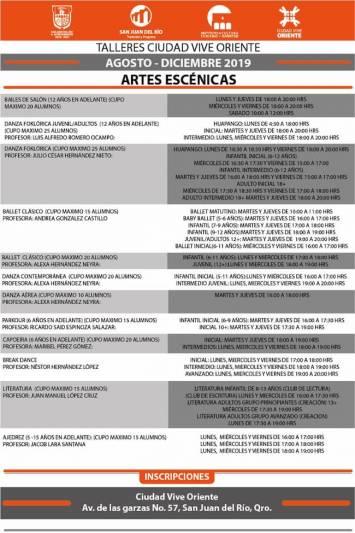 Gobierno de SJR ofrece talleres artísticos y culturales en Ciudad Vive Oriente