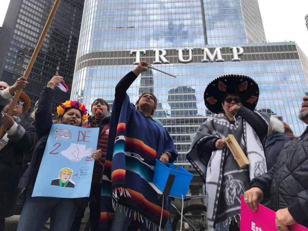 Protestas en Chicago por visita de Donald Trump
