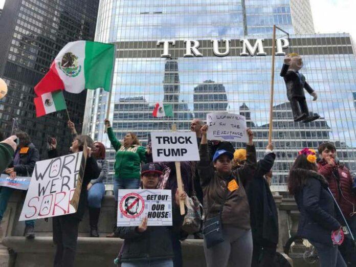 Protestas en Chicago por visita de Donald Trump