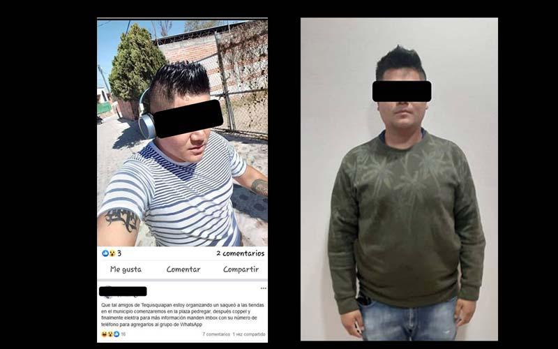Detienen A Sujeto Por Convocar A Saqueos De Comercios En Tequisquiapan