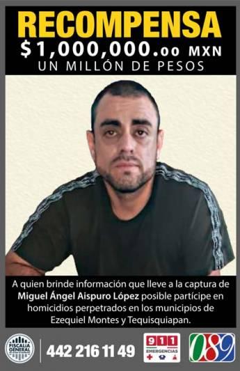 Ofrecen 1 millón por multihomicida de Querétaro
