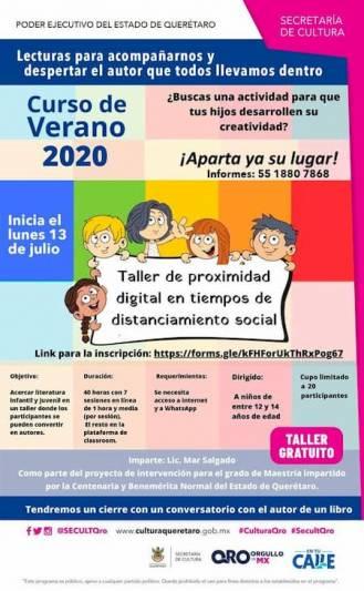 Curso de verano gratuito para fomentar la lectura en Querétaro