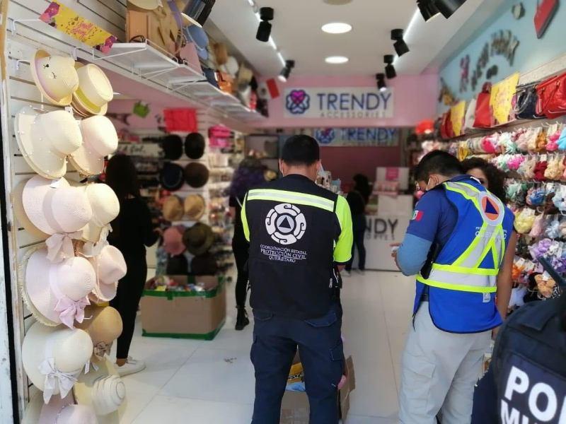 Autoridades estatales y municipales supervisan 148 establecimientos comerciales en la capital queretana