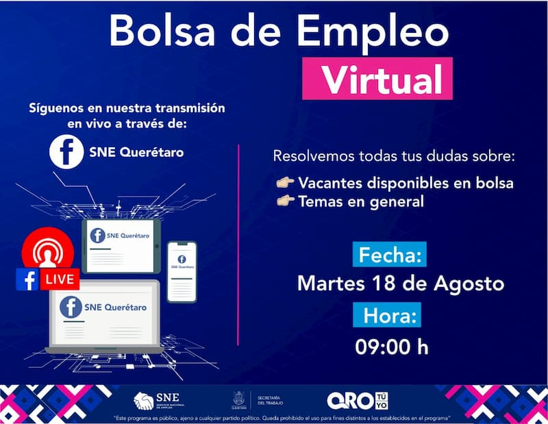 Con 218 plazas la 15ª Bolsa de Empleo para la zona metropolitana de Querétaro