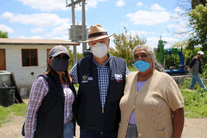Entrega SEDEA nuevo sistema de riego por goteo en Pedro Escobedo