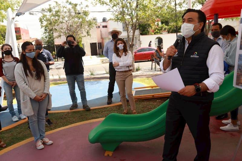 Entregan parque remodelado en colonia La luna en programa de Gobierno Abierto en Queretaro