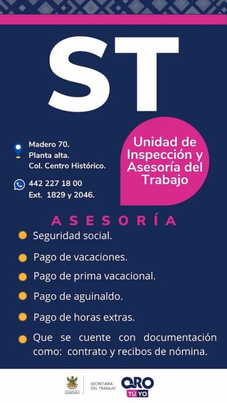 Realiza ST 110 inspecciones a centros de trabajo durante contingencia en Queretaro 2