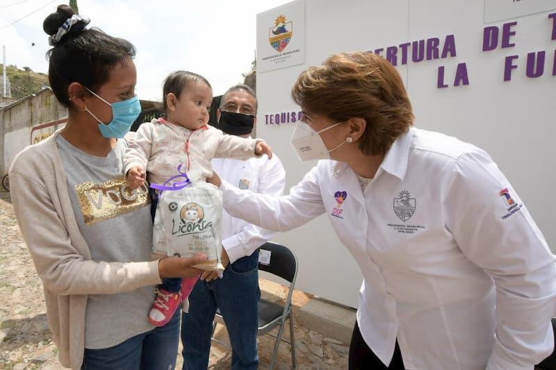 Alcalde Tono Mejia gestiona reapertura de tienda Liconsa en La Fuente Tequisquiapan