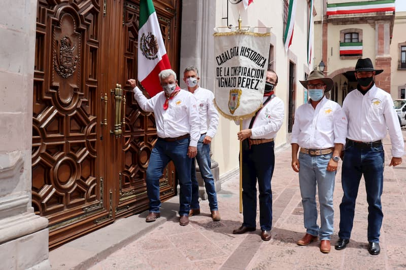 Reciben a los Conspiradores en Palacio de Gobierno de Queretaro