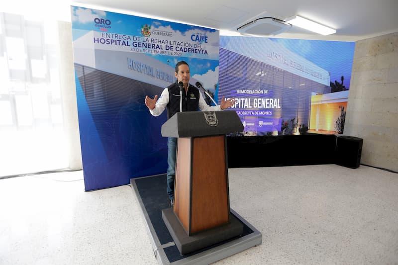 Gobernador del Estado entregó Hospital General en Cadereyta de Montes