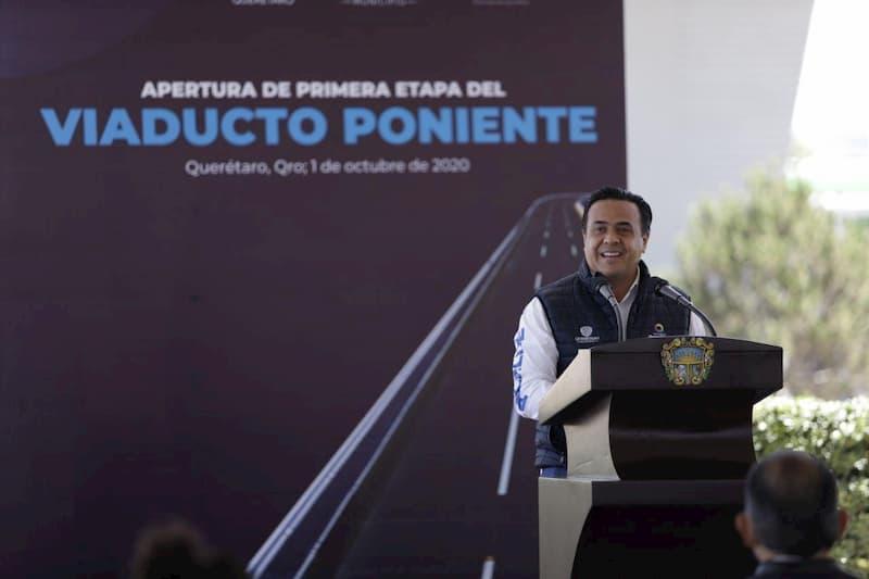 Asegura Luis Nava que con el Viaducto Poniente se cumple un compromiso con el municipio de Querétaro