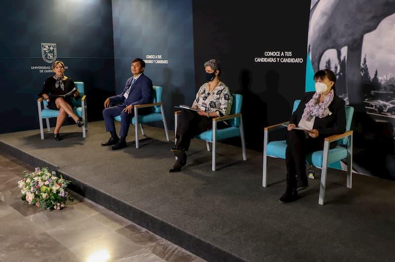 Candidatas y candidato a Rector de la UAQ iniciaron sus presentaciones
