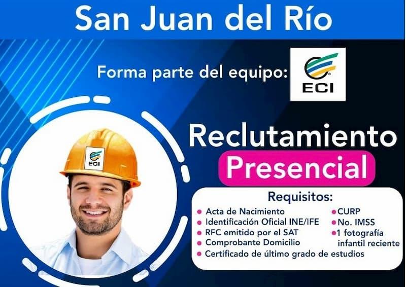 Convocatoria reclutamiento para contratación de personal operativo en San Juan del Río QRO
