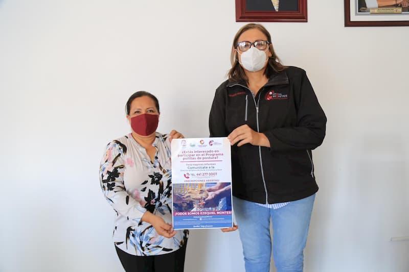 Elvia Montes continua con el programa Pollitas de postura en Ezequiel Montes