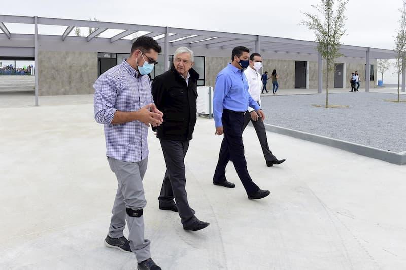 Presidente Andrés Manuel entrega obras de mejoramiento urbano en Nuevo Laredo