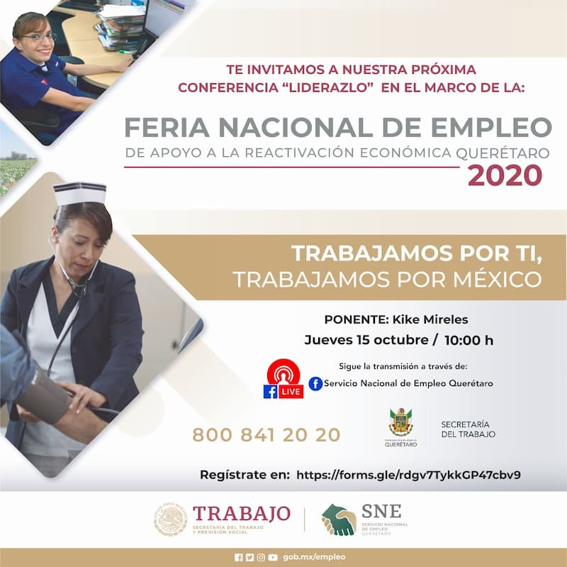 Participará estado de Querétaro en la Feria Nacional de Empleo