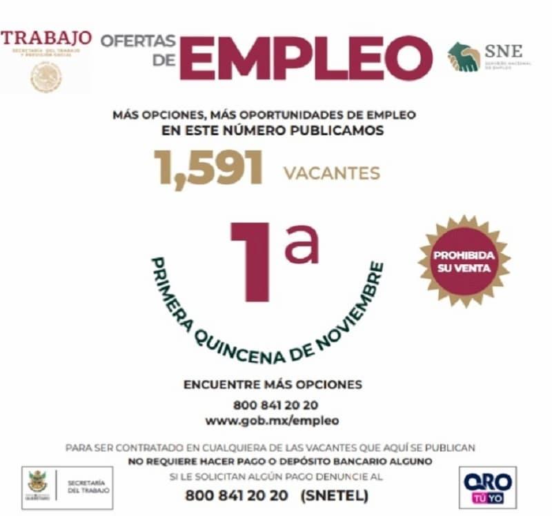 Buscas chamba Hay 1591 plazas en Queretaro desde saber leer hasta licenciaturas 2