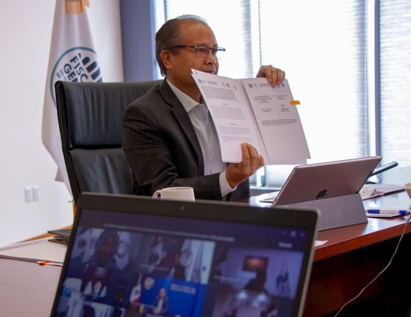 Firma Fiscalía de Querétaro convenio con Fepade