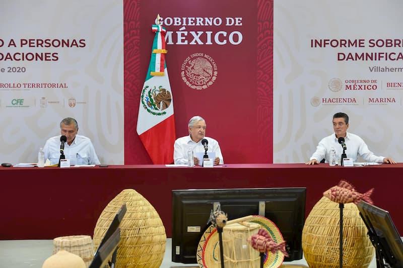 Gobierno federal destinará 18 mil mdp a atención de damnificados en Tabasco y Chiapas: Presidente AMLO