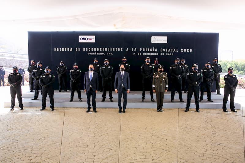 Reconoce Gobernador de Querétaro labor y compromiso de la Policía Estatal