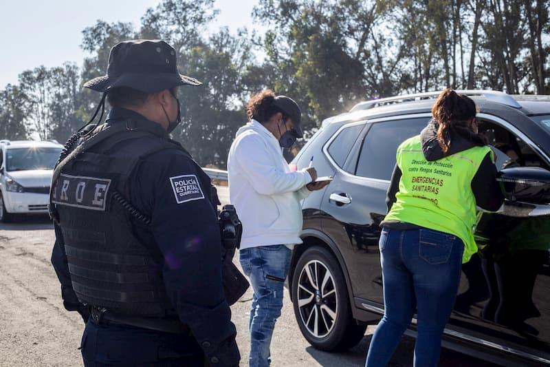 Se realizaron 5mil 555 recomendaciones de prevención a COVID-19 en los filtros sanitarios de Querétaro