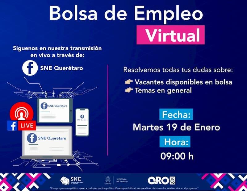 3ra bolsa de empleo virtual para el municipio de San Juan del Río