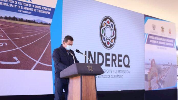 Alcalde Toño Mejía refrenda compromiso con deportistas de Tequisquiapan