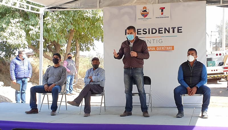 Entregan rehabiitación de alcantarillado sanitario en San Nicolás, Tequisquiapan