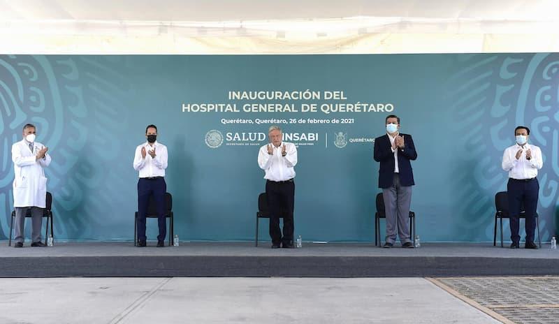Presidente AMLO y Gobernador inauguraron Hospital General de Querétaro