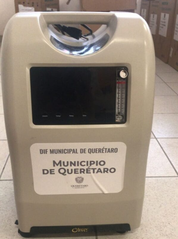 Continúan con préstamo de Concentradores de Oxígeno en Municipio de Querétaro