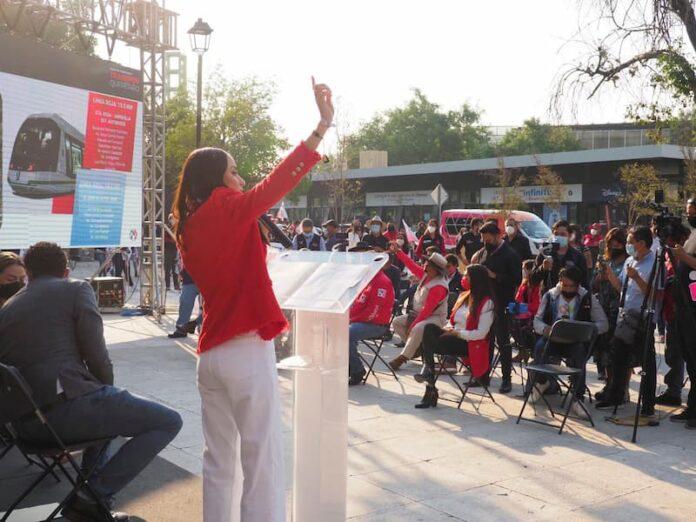Presenta María Alemán presenta proyecto de tranvía para agilizar recorridos
