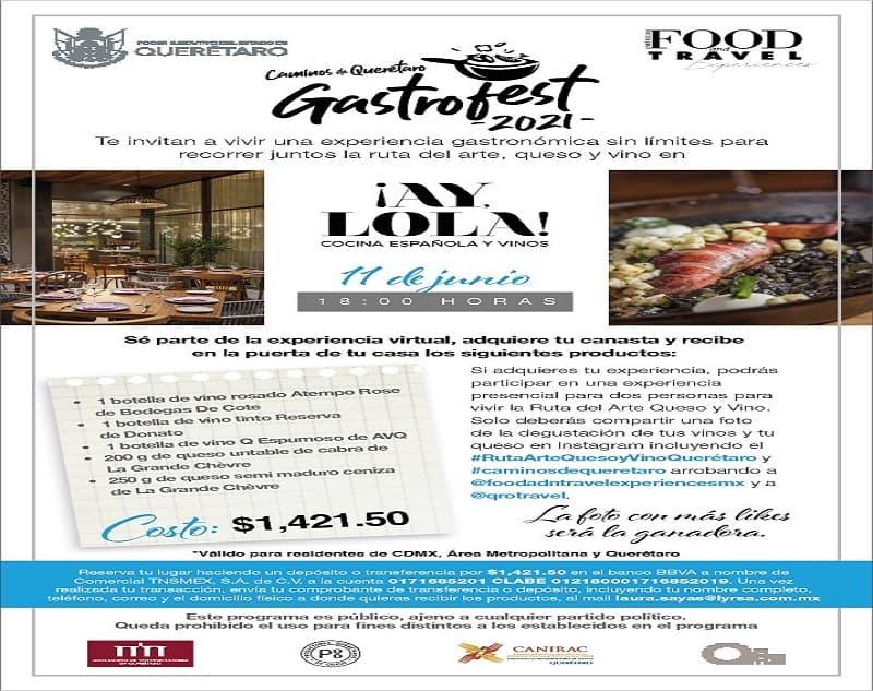 Festival Gastrofest, Caminos de Querétaro visita el restaurante ¡Ay Lola!