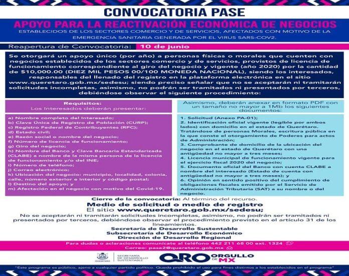 Programa PASE abre nueva convocatoria
