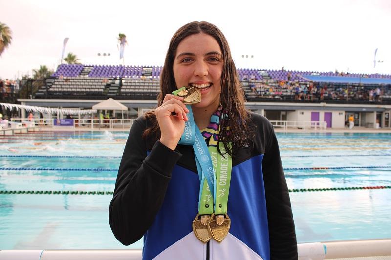Nadadora consigue oro para Querétaro en Nacionales CONADE 2021
