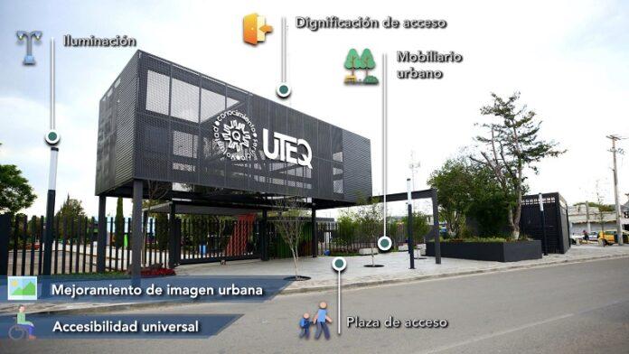 Obras de regeneración de acceso en la UTEQ