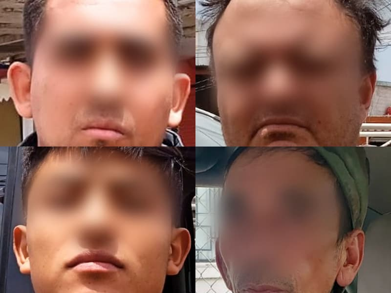 Tras encontrarles sustancias prohibidas, cuatro hombres son aprehendidos en distintos hechos