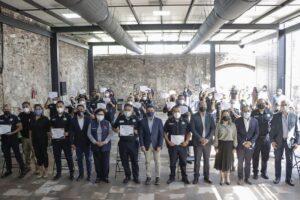 Policías de Corregidora finalizaron curso de profesionalización