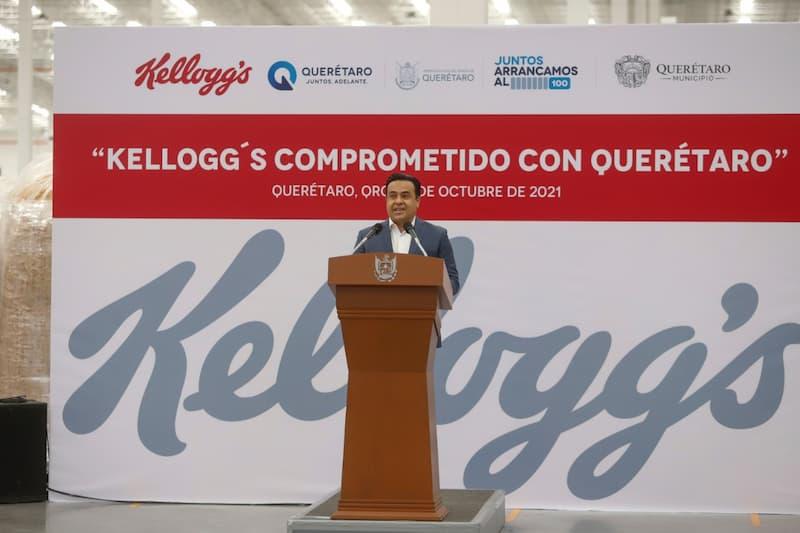 Participa Luis Nava en inauguración del nuevo centro de distribución de Kellogg's