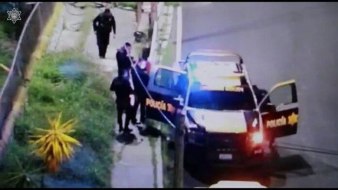 Policías municipales de QRO frustran robo de material; hay tres detenidos