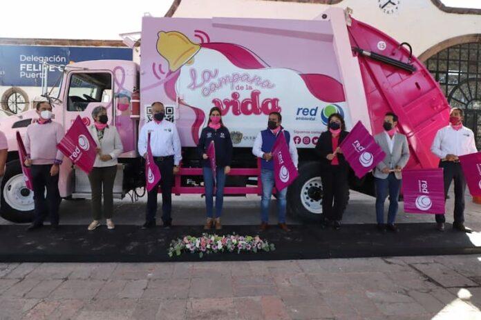 Red ambiental y Servicios Publicos Municipales inician a 8va. Campana Rosa contra el Cancer de Mama 1